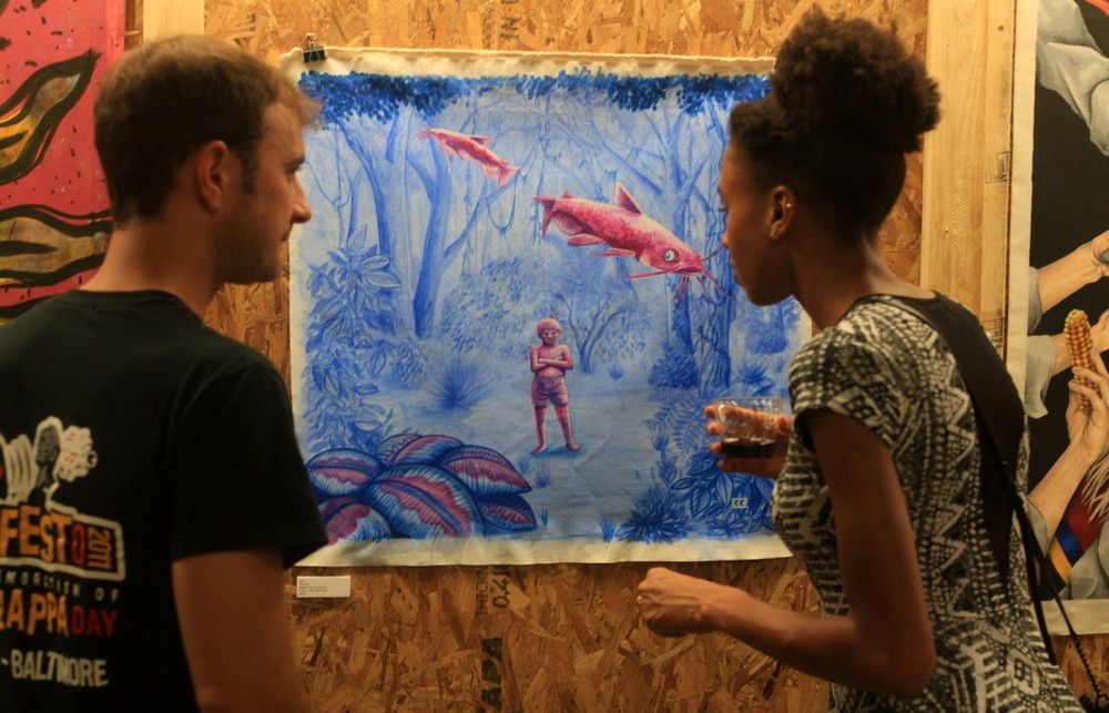 ice street artist lucho gatti artist gallery show baltimore usa buenos aires street art exhibition show canvas