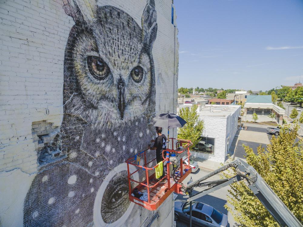 Alexis Diaz street art mural artist arkansas justkids