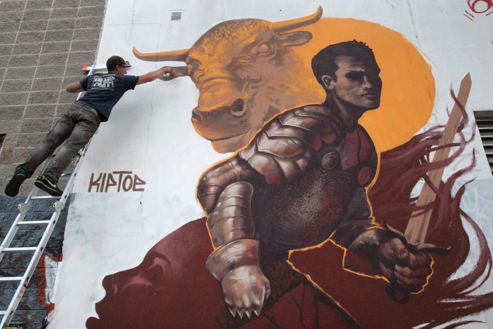 bull mural toro arte knight armour street art buenosairesstreetart.com