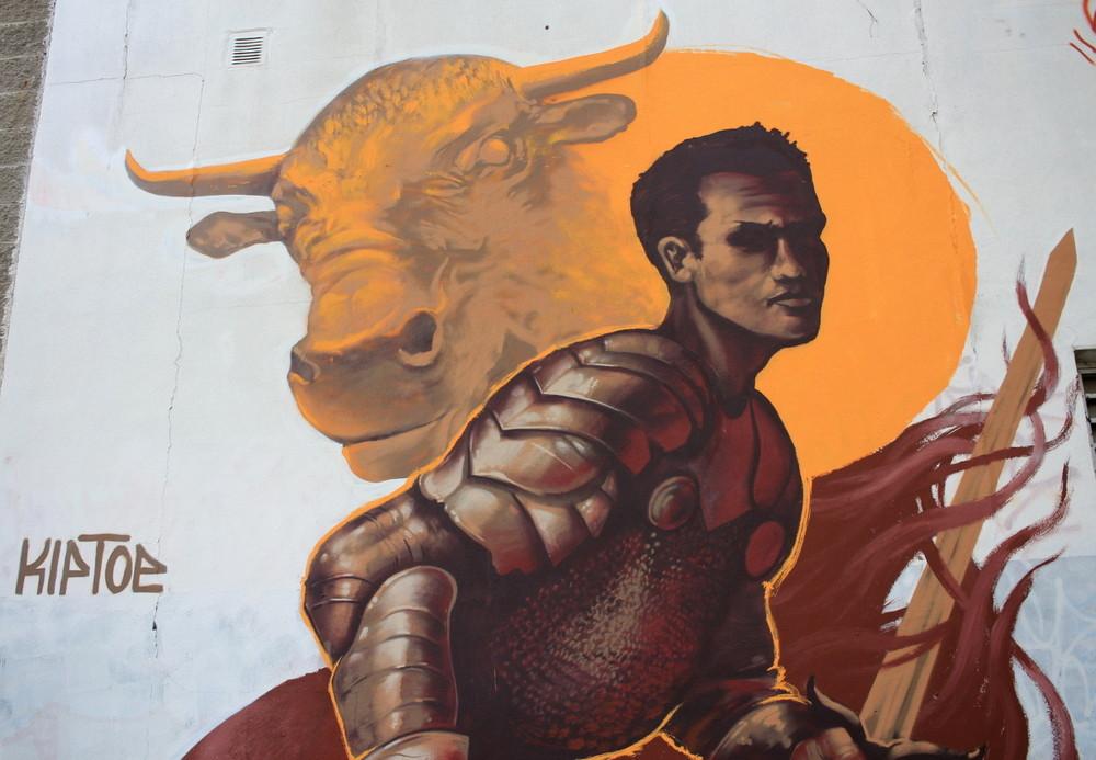 toro argentino caballero knight bull buenos aires buenosairesstreetart.com
