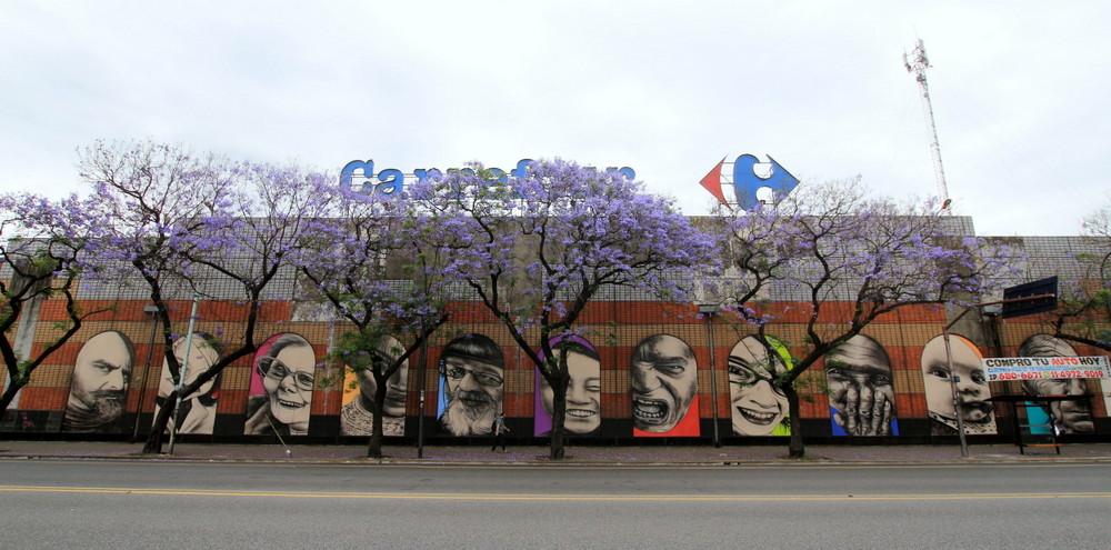 supermercado carrefour liniers buenos aires alvarez jonte arte callejero urbanopelado  buenosairesstreetart.com