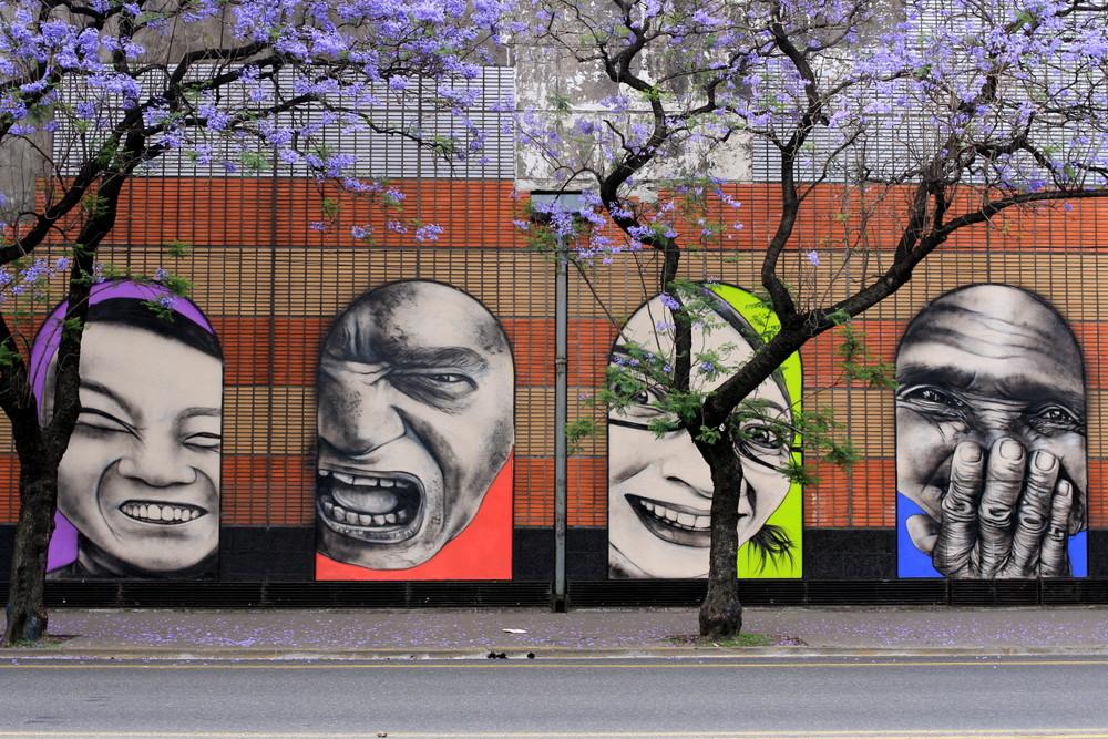 faces portraits art street buenos aires argentina arte retratos jacaranda arbol buenosairesstreetart.com