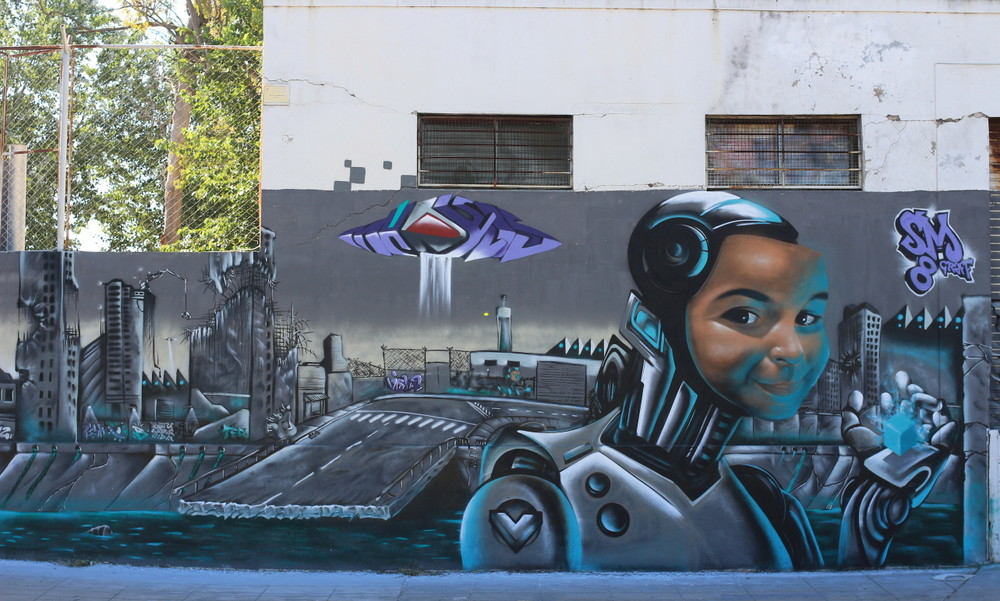 graffiti buenos aires robot madxis 3D san martin graff argentina buenosairesstreetart.com