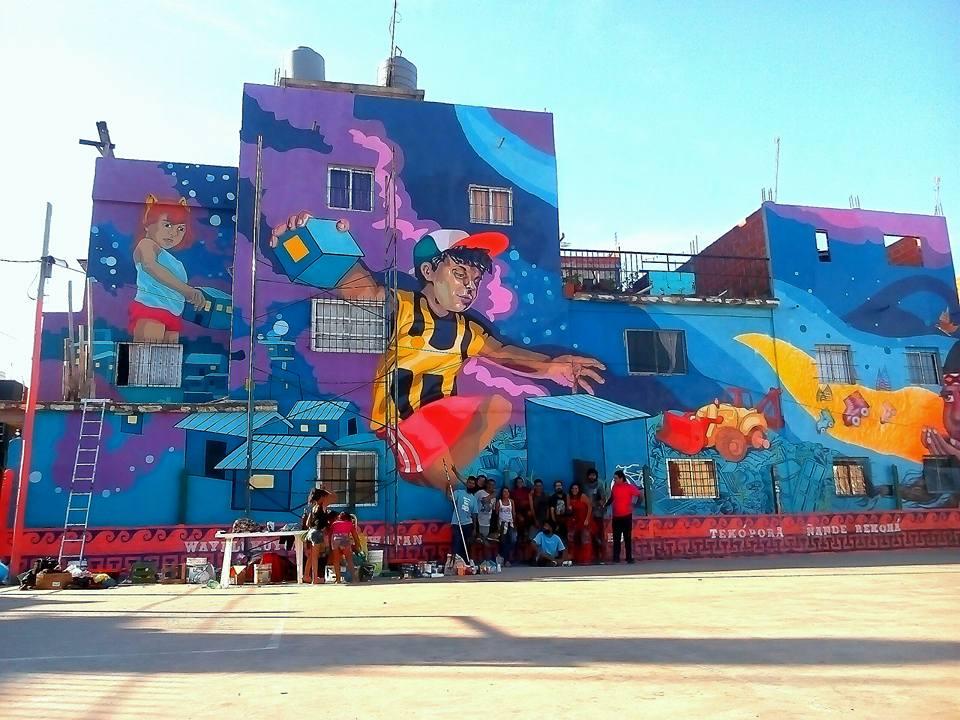 villa 21 barracas buenos aires street art murales MACA