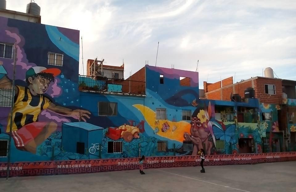 villa 21 buenos aires slum argentina mural street art