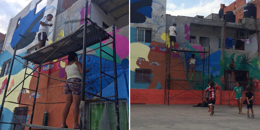 villa buenos aires slum favella street art graffiti murales