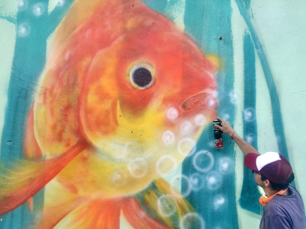 buenos aires graffiti china barrio chino indigo ars artista mural buenosairesstreetart.com