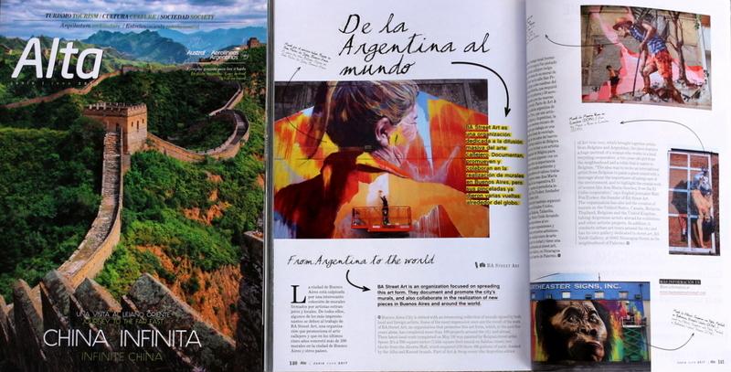 aerolineas argentinas magazine alta revista airline buenos aires street art buenosairesstreetart.com