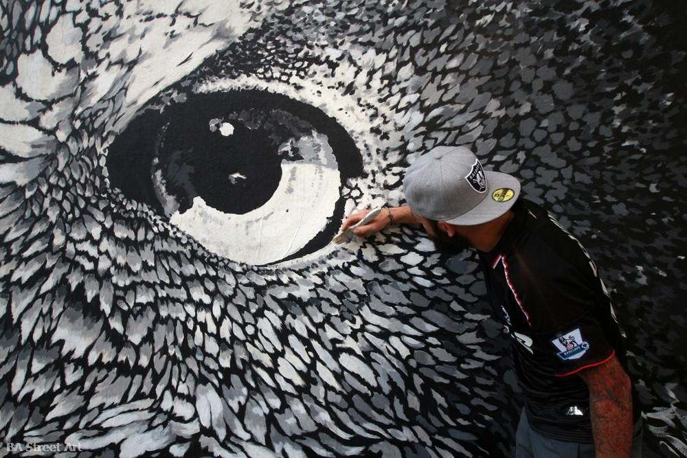 lechuza argentina owl buenos aires buenosairesstreetart.com BA Street Art murales