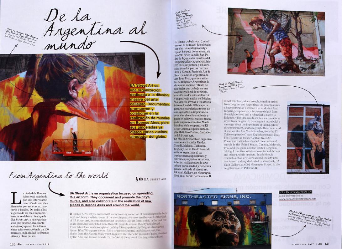 alta revista aerolineas argentinas BA Street Art argentina murales buenosairesstreetart.com