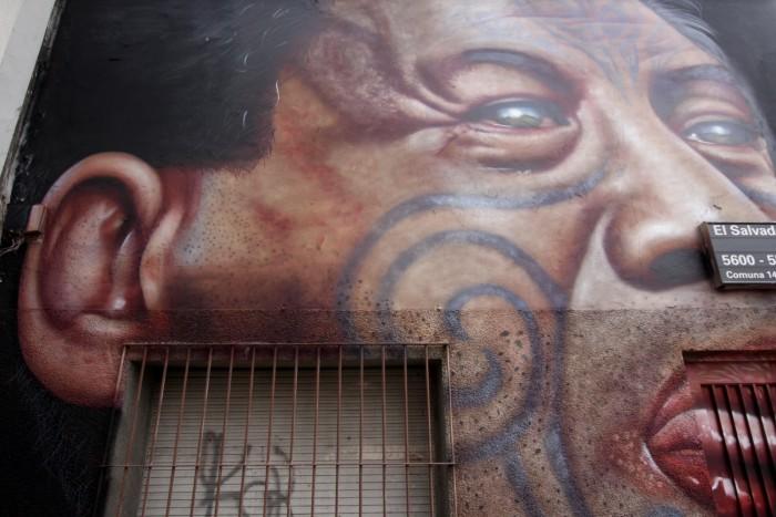 maori new zealand tattoo face man street art buenos aires buenosairesstreetart.com
