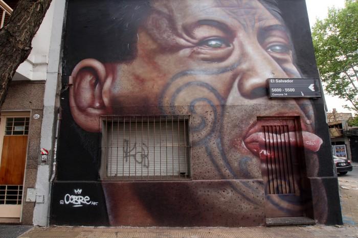 air new zealand maori mural buenos aires street art buenosairesstreetart.com