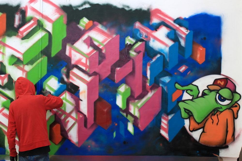 3D graffiti buenos aires argentina BA Street Art buenosairesstreetart.com