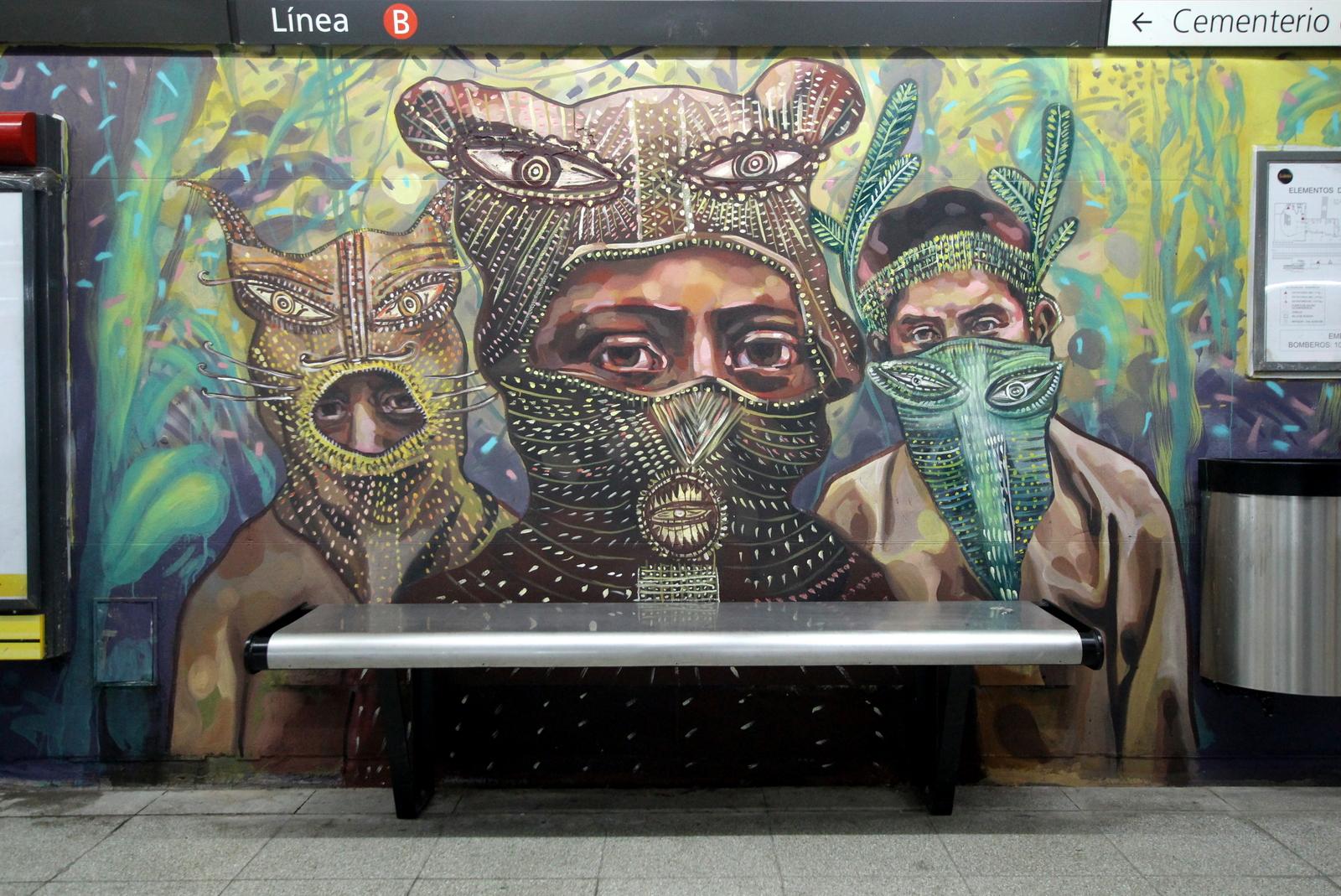 estacion de subte murales buenos aires arte urbano grafiti tour federico lacroze chacarita