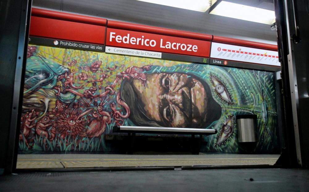 federico lacroze estacion buenos aires subte estacion station vagones trenes graffiti murales arte callejero