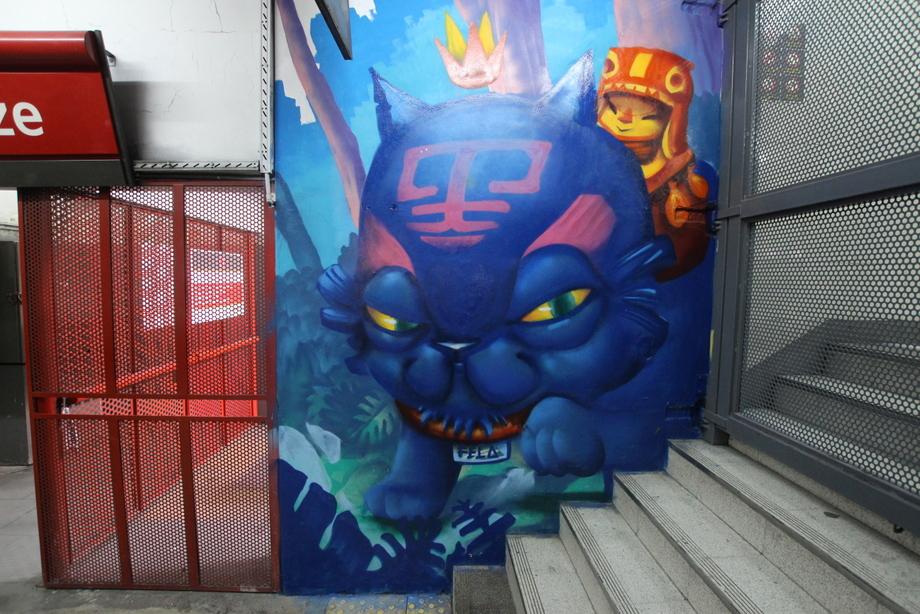 buenos aires graffiti tour metro subte buenos aires estacion station vagones trenes graffiti murales arte urbano argentina