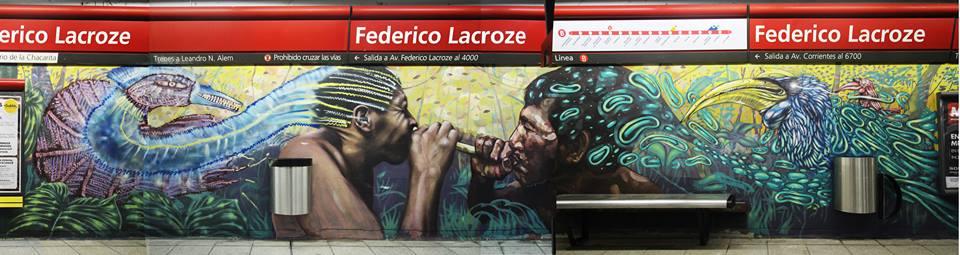 metro subte buenos aires graffiti estacion station vagones trenes graffiti murales arte urbano argentina