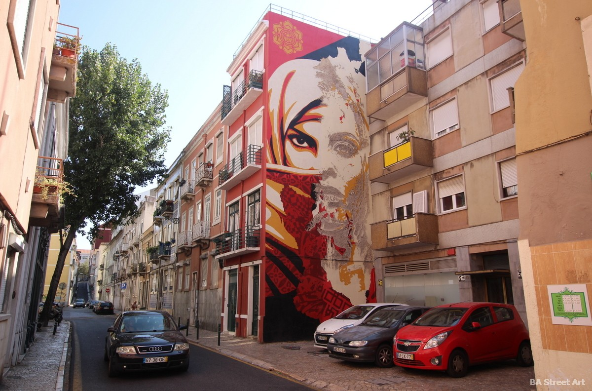 vhils shepard fairey lisbon portugal lisboa mural graffiti tour escultura underdogs gallery