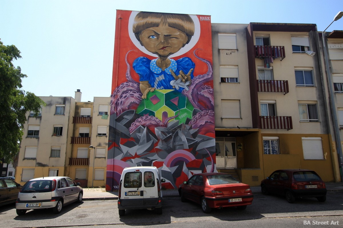 quinta do mocho lisboa graffiti tour sacavem portugal nark merkel murales savacem street art buenosairesstreetart.com
