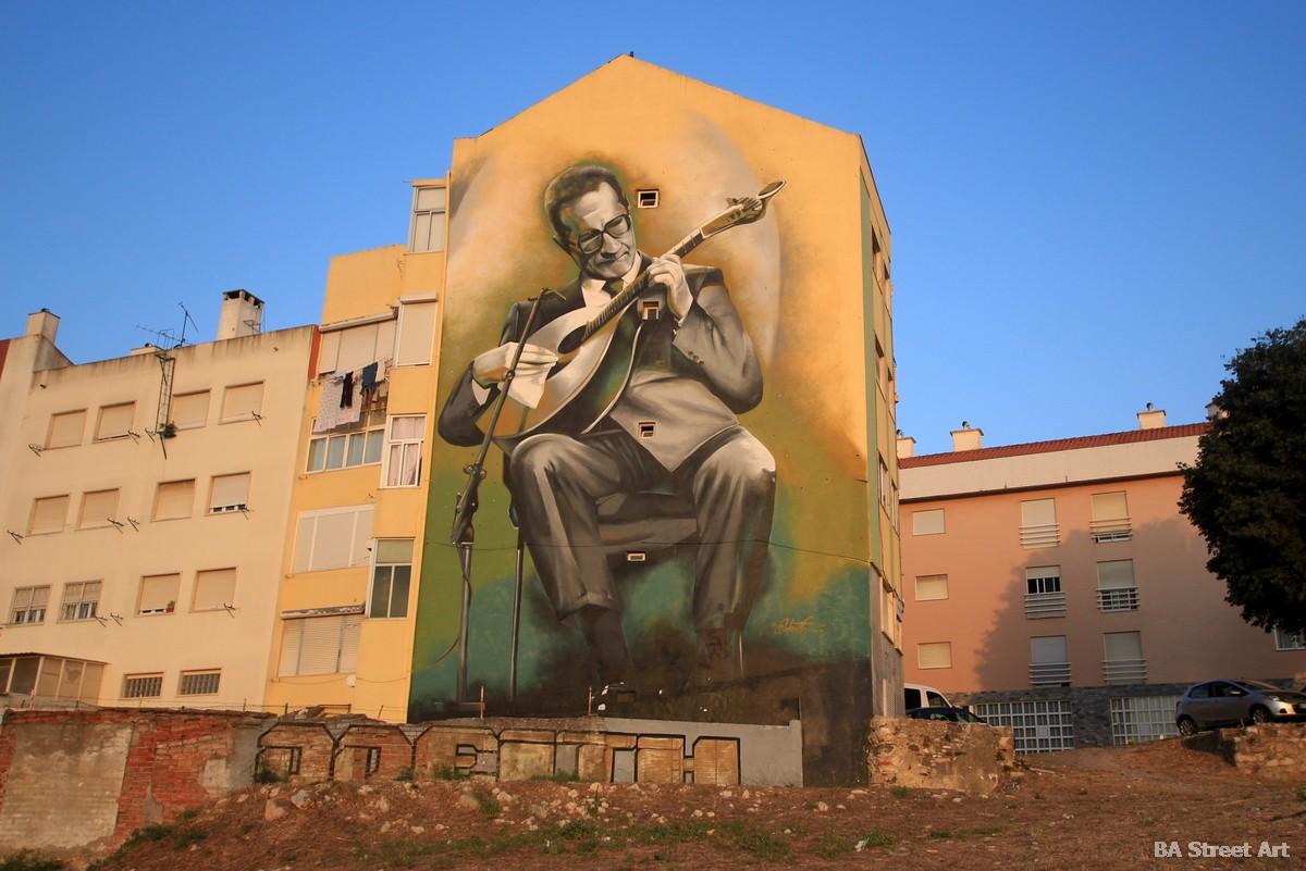 odeith 3d mural lisbon portugal graffiti tour lisboa carlos paredes fado