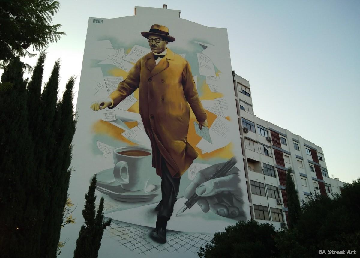 odeith graffiti mural lisbon portugal graffiti tour lisboa fernando pessoa fado