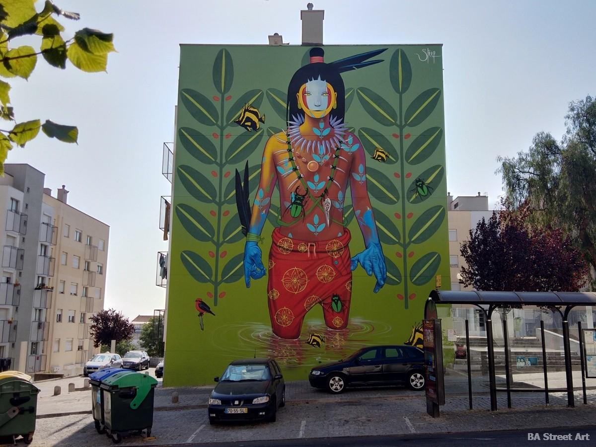 steep mural lisbon ecuador artista murais graffiti street art arte callejero tour lisboa hombre aerosol