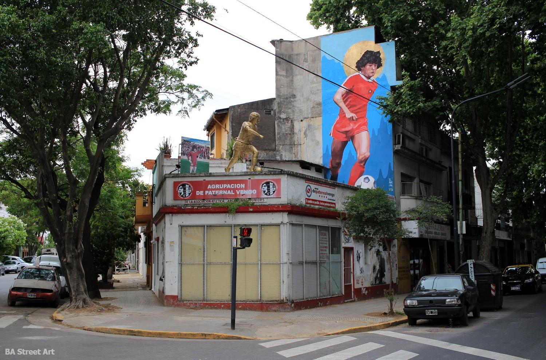 diego maradona mural buenos aires la paternal argentinos juniors mundial world cup estadio cancha buenos aires buenosairesstreetart.com