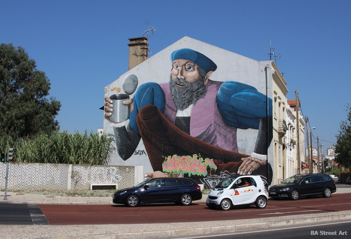 nunca mural portugal lisboa artista brasil murais artist arte callejero artista muralismo arte urbano buenosairesstreetart.com