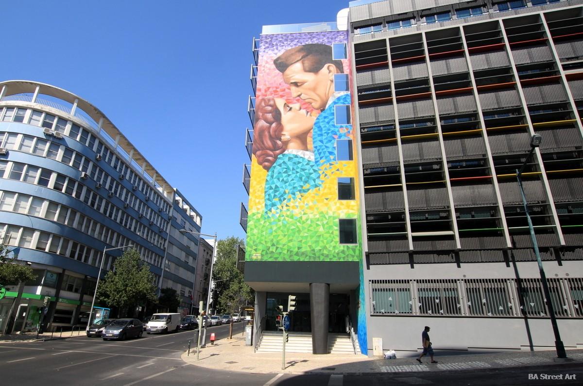 graffiti tour lisbon portugal mr dheo pariz one lisboa beso beijo