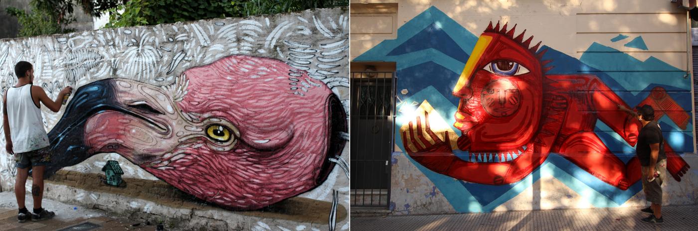 murales buenos aires organizado por buenos aires street art coghlan luxor fachadas casas paredes