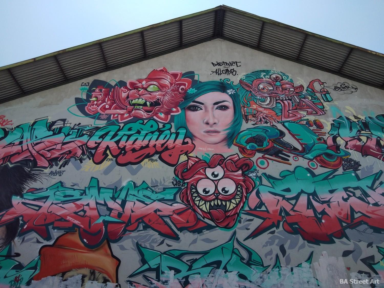 barong graffiti bali canggu allcaps murales graff urban art buenosairesstreetart.com