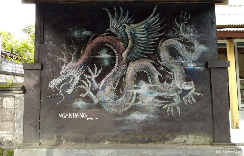 indonesia dragon bali ubud statue mural ngandang artist buenosairesstreetart.com