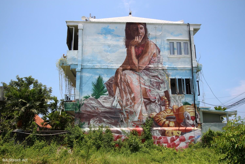 fintan magee canggu bali street art mural inflatable tiger graffiti arte urbano buenosairesstreetart.com