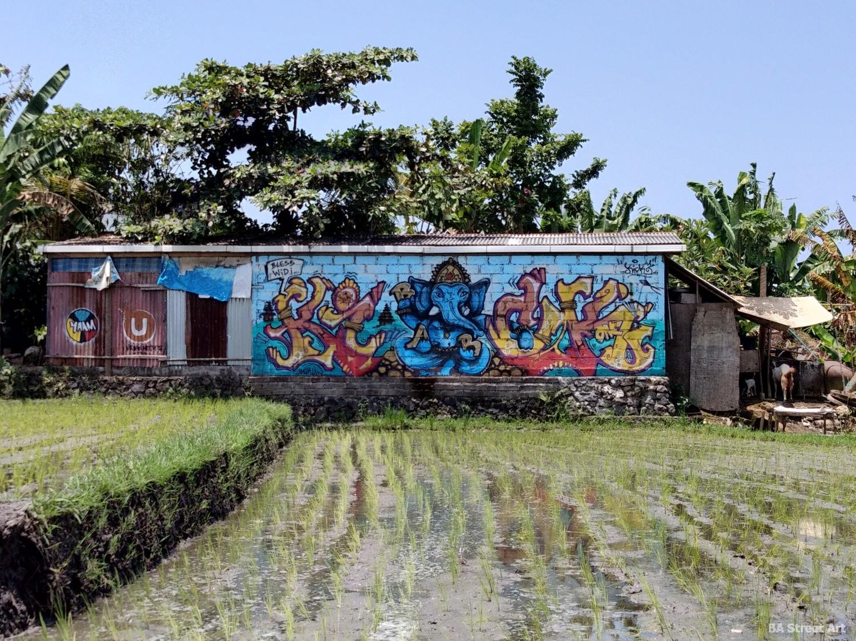 ganesha bali indonesia graffiti street art sculpture beach canggu buenosairesstreetart.com