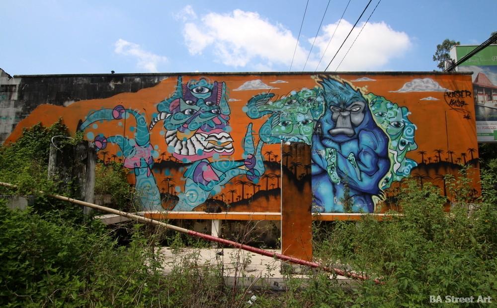 monkeys bali street art mural graffiti kasper cow graff buenosairesstreetart.com