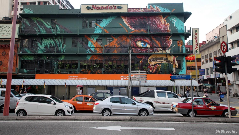 kenji chai nando's mural rooster chicken street art wall art malaysia KL buenosairestsreetart.com