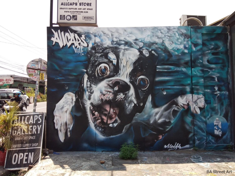 midas kid allcaps store canggu bali dog mural graffiti gallery indonesia buenosairesstreetart.com