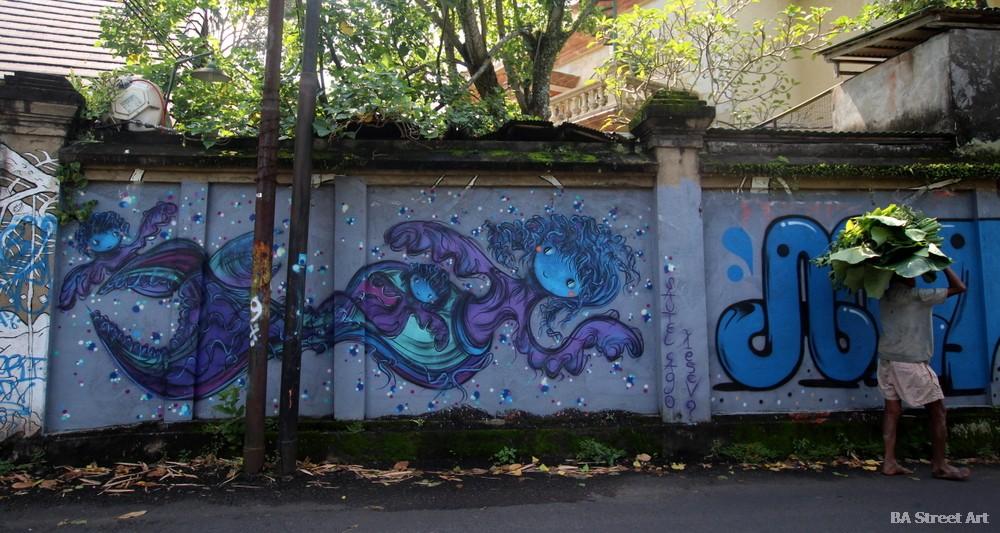 sautel cago artist mermaid bali ubud indonesia buenosairesstreetart.com