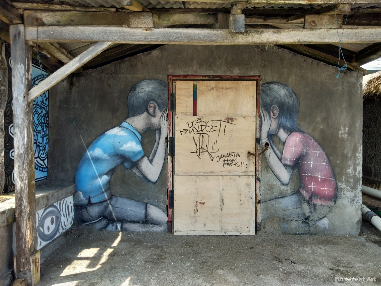 seth globepainter street art mural bali indonesia canggu netalayan beach urban art shack but kids buenosairesstreetart.com