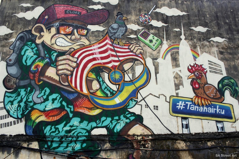 kenji street artist mural tanahairku street art wall art malaysia graffiti buenosairesstreetart.com