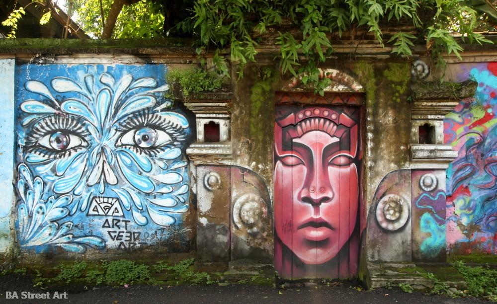 bali monkey forest ubud shaun burner statue door doorway monkeys indonesia urban art graffiti murals buenosairesstreetart.co