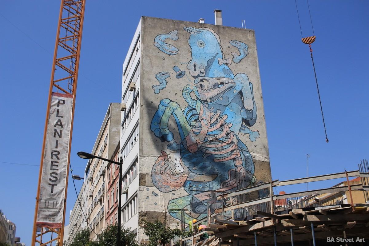 aryz mural lisbon portugal horse caballo murais arte callejero murales buenosairesstreetart.com
