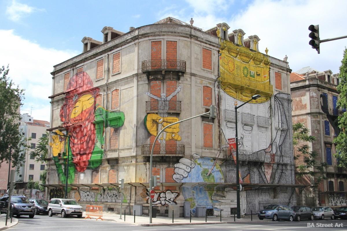 blu os gemeos lisbon street art tour portugal graffiti lisboa fresque peinture murais buenosairesstreetart.com