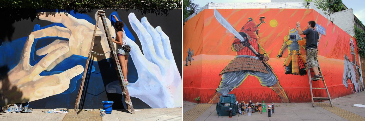 murales buenos aires patrocinados por buenos aires street art graffiti artistas muralistas fresques