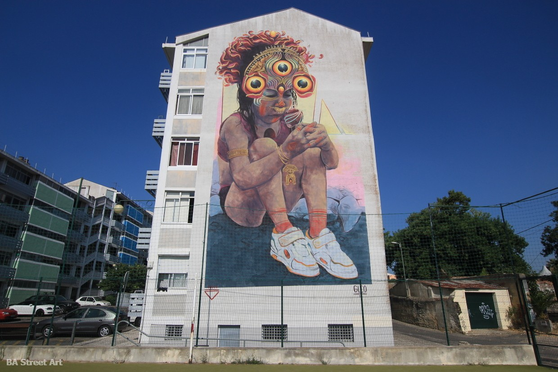 GLeo artista colombia ojos eyes lisbon mural portugal marvila GAU buenosairesstreetart.com