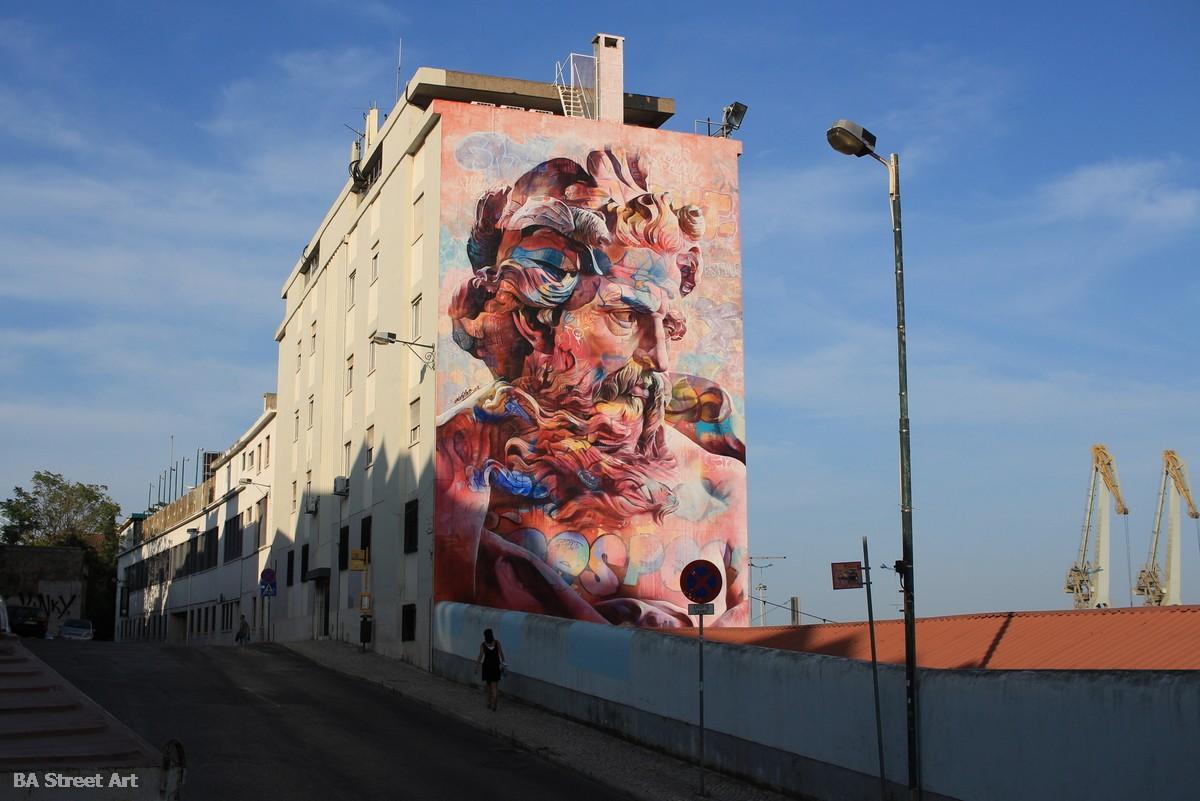 pichiavo mural portugal arte urbano graffiti lisboa graffiti art tour portugal arte callejero grafiti lisboa fresque peinture buenosairesstreetart.com