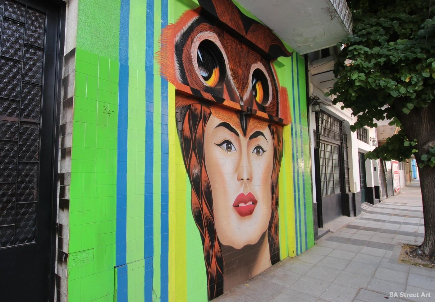 coghlan buenos aires barrio ingles murales patrocinados por BA Street Art artista Hech Uno
