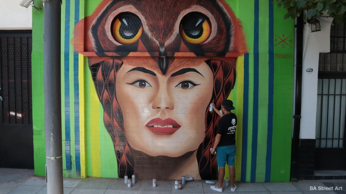 hech street art mural coghlan buenos aires aerosol organizado por Buenos Aires Street Art