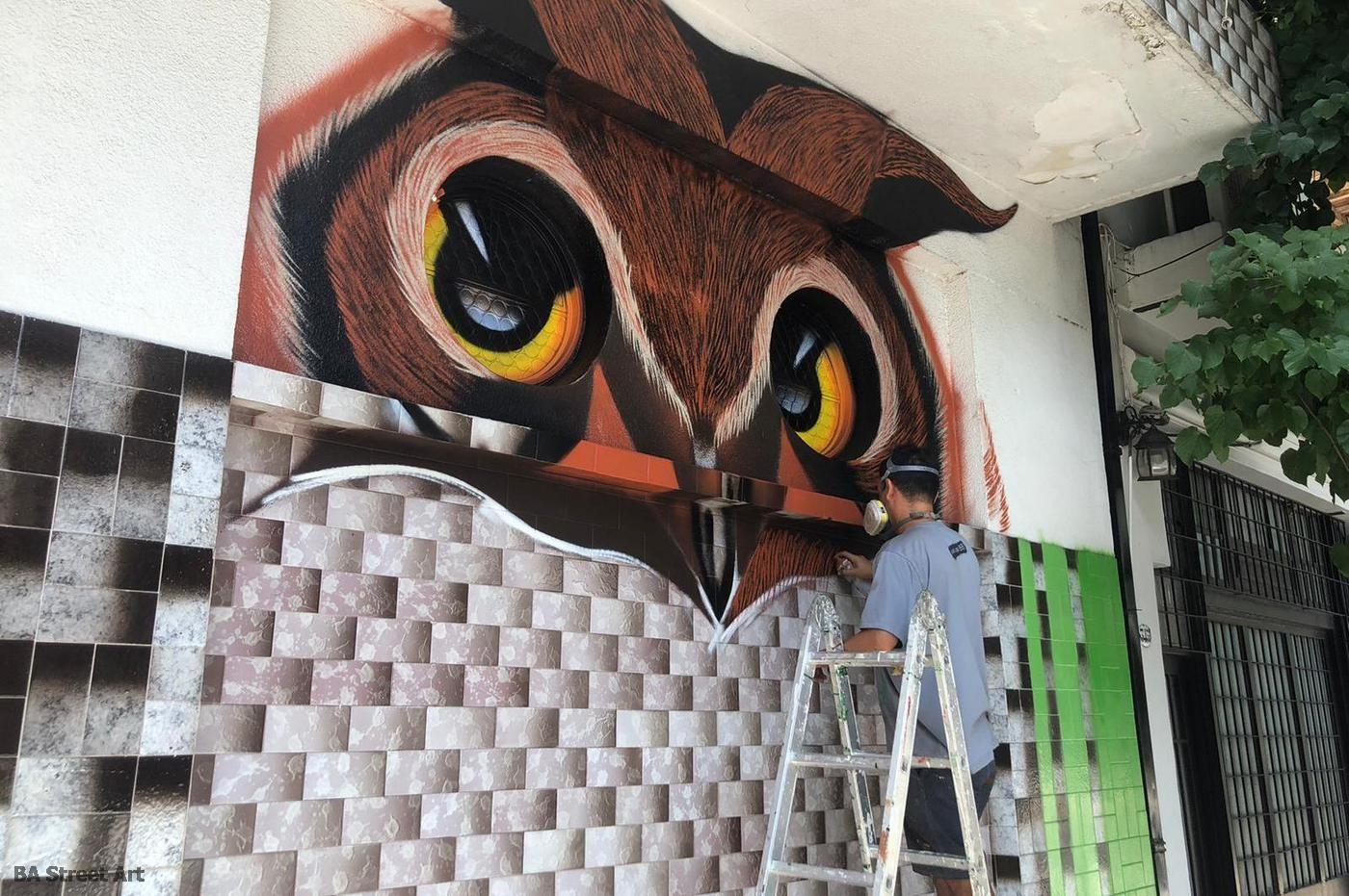 animal mural owl buho buenos aires street art buenosairesstreetart.com