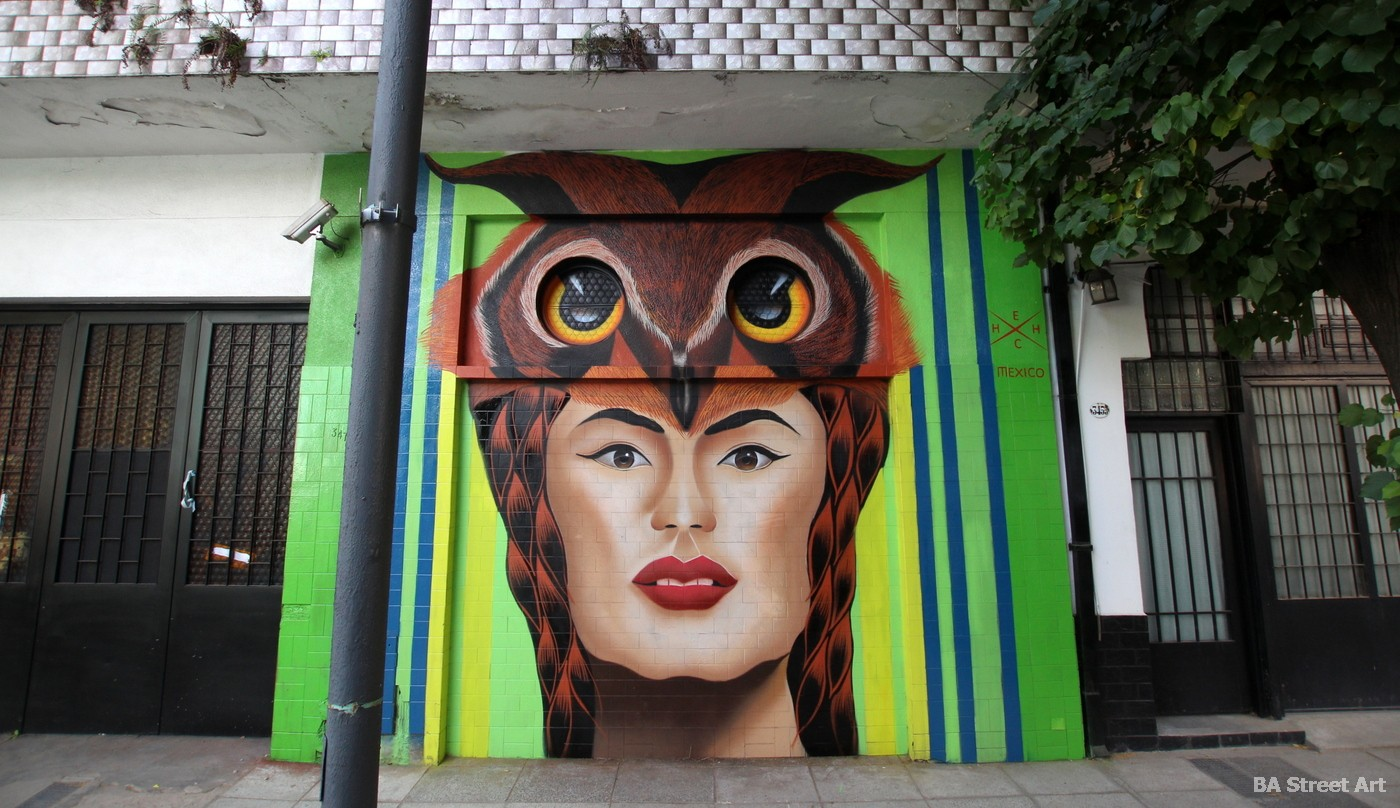 mural buenos aires organised by Buenos Aires Street Art artist Hech Uno
